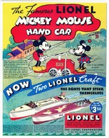 The Famous Lionel Mickey Mouse Hand Car | Print Ads