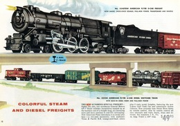 Colorful Steam And Diesel Freights | Print Ads