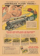 """I'm Sure Glad I Chose A Gilbert American Flyer Train""! 