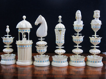 Michael Edel Ivory Set | Chess Sets & Boards