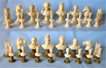 Napoleon and Allies Bust Chess Set | Chess Sets & Boards