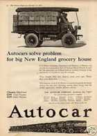 Autocars Solve Problem For Big New England Grocery House | Print Ads