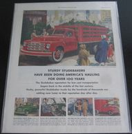 Sturdy Studebakers Have Been Doing America's Hauling For Over 100 Years | Print Ads