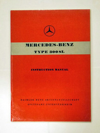 Mercedes 300SL Gullwing Owners Manual | Manuals & Instructions