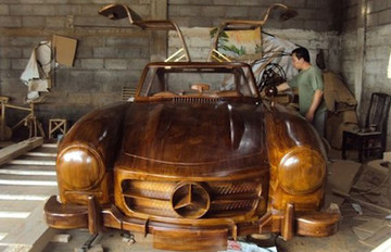 Wooden 1:1 Mercedes 300SL Gullwing  | Model Cars