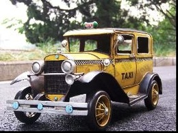 1931 yellow ford a fire engine taxi  medium