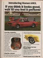 Introducing Hornet AMX For 1977. If You Think it Looks Good, Wait 'til You Feel it Perform! | Print Ads