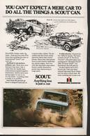 You Can't Expect A Mere Car To Do All The Things A Scout Can. | Print Ads