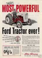 NEW! MOST POWERFUL FORD Tractor Ever For 1955 | Print Ads