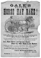 Gale's Patent Horse Hay Rake! | Print Ads