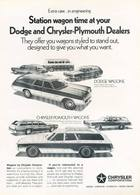 Station Wagon Time At Your Dodge Chrysler-Plymouth Dealers | Print Ads