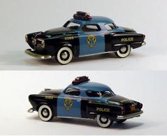 1951 Studebaker Commander Starlight Coupe Gotham City Police   Model Cars