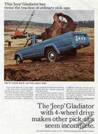 This %2527jeep%2527 gladiator has twice the traction of ordinary pick ups. print ads 5337d28c 2e0c 4455 b4e5 9e58c6afd7fe medium