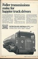 Fuller Transmissions Make For Happier Truck Drivers. | Print Ads