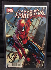 Amazing Spider-Man Vol. 3 No. 1 J. Scott Campbell Variant | Comics & Graphic Novels | Signed by J. Scott Campbell, Dan Slott, Humberto Ramos, Victor Olazaba and Edgar Delgado.