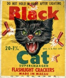 BlackCat Supercharged Flashlight Crackers   Posters & Prints