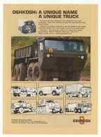 Oshkosh: A Unique Name A Unique Truck | Print Ads