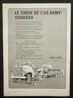 Le Choix De L'US Army Oshkosh | Print Ads