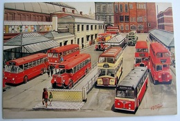 Manchester Lower Mosley Street Bus Station circa 1960 | Postcards | Caption Text