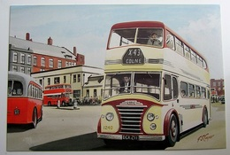 Ribble Leyland PD2 White Lady leaving Manchester LMS | Postcards | Caption Text