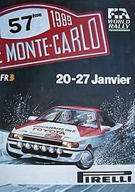 Rally Monte-Carlo 1989 Poster   Posters & Prints