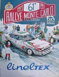 Rally Monte Carlo 1993 Poster | Posters & Prints