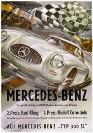 Mercedes-Benz - Der grosse Erfolg im 1000-Meilen Rennen von Brescia | Posters and Prints