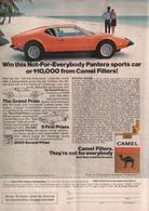 Win This Not-For-Everybody Pantera Sports Car Or $10,000.00 From Camel Filters! | Print Ads