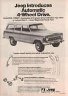 Jeep® Introduces Automatic  4-Wheel Drive. | Print Ads