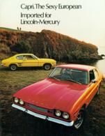 Capri. The Sexy European. Imported for Lincoln-Mercury. | Print Ads