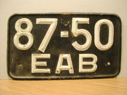 USSR License Plate Back | License Plates