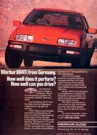 Merkur XR4Ti From Germany. How Well Does It Perform? How Well CanYou Drive? | Print Ads