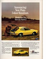 Announcing: New Pinto 3-Door Runabout. | Print Ads