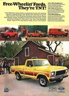 Free-Wheelin' Fords. They're TNT! | Print Ads