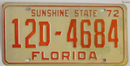 Florida passenger license plate license plates 55395e24 9825 4a22 a1f0 88155a2a6c8a medium
