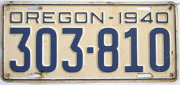 Oregon Passenger License Plate | License Plates | Oregon Vintage License Plate