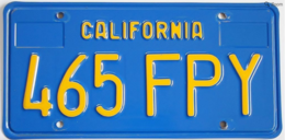 California Passenger License Plate | License Plates | California Vintage License Plate