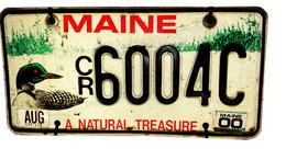 Maine Natural Treasure License Plate | License Plates | Maine Natural Treasure license plate from August, 2000.