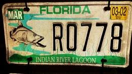Florida Indian River Lagoon License Plate | License Plates | Florida specialty license plate from March, 2002.