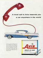 A Local Call To Avis Reserves You A Car Anywhere In The World! | Print Ads