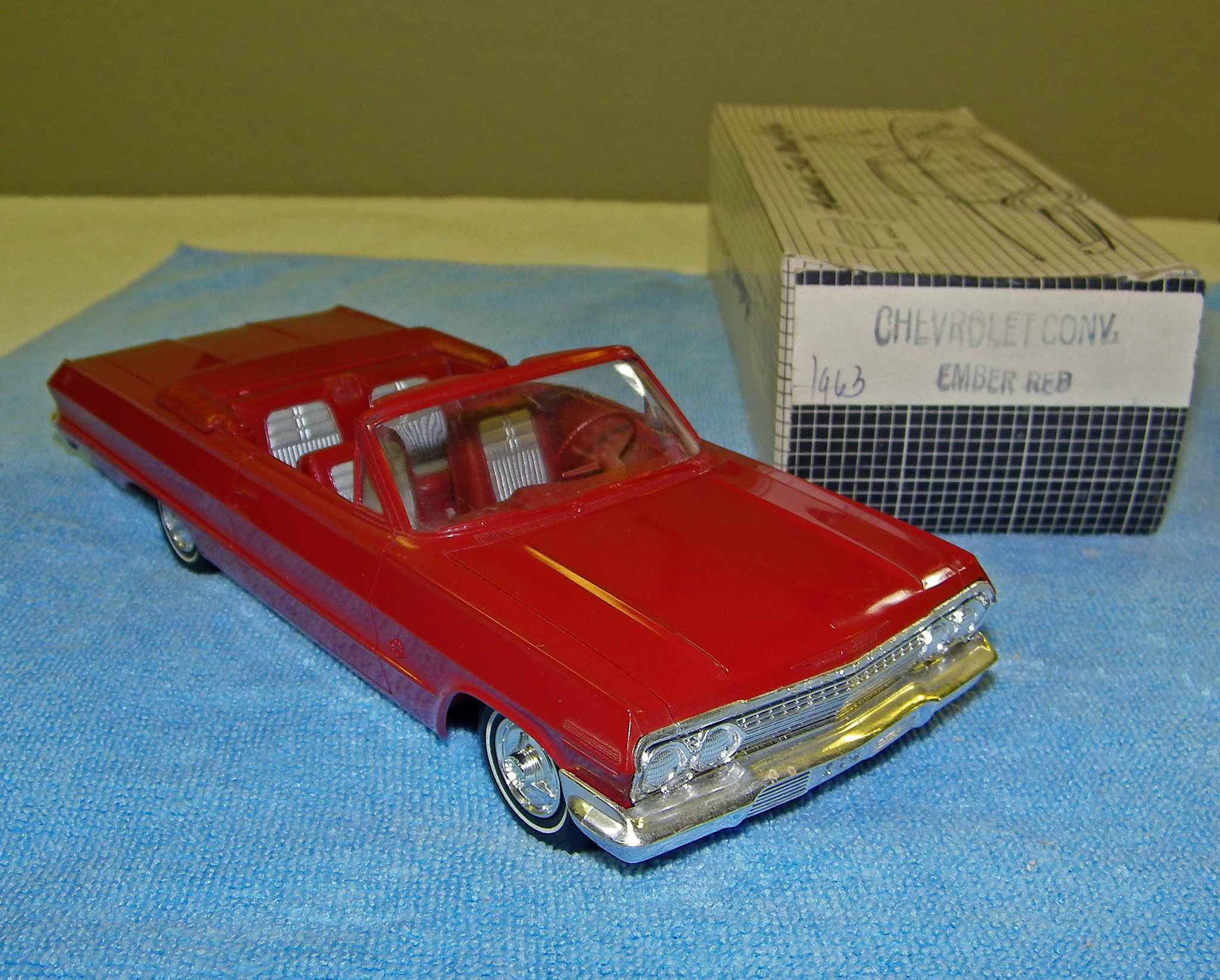 1963 chevrolet impala ss 409 convertible promo model car. Black Bedroom Furniture Sets. Home Design Ideas