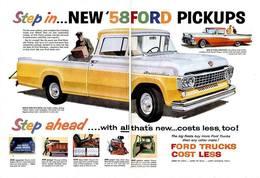 Step In ... New '58 FORD Pickup Trucks | Print Ads