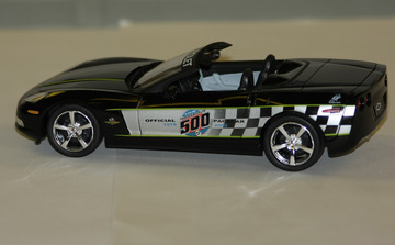 2008 chevrolet corvette convertible indy pace car promo model model cars hobbydb. Black Bedroom Furniture Sets. Home Design Ideas
