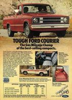 Tough Ford Courier The Gas Mileage Champ Of The Best-Selling Compacts. | Print Ads