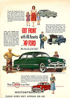 Out Front With All America ... '49 FORD The Fine Car Of Its Field! | Print Ads