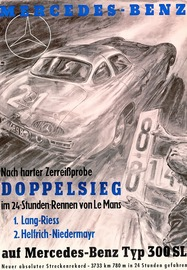 Mercedes-Benz - Nach Harter Zerreißprobe Doppelsieg Im 24 Stunden-Rennen Von Le Mans | Posters & Prints