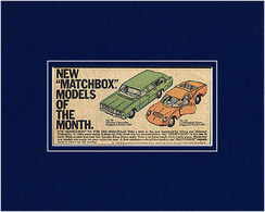 """New """"Matchbox"""" Models Of The Month 