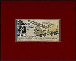 New King-Size 'Matchbox' Model Of The Month | Print Ads