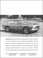Aston Martin Anounce With Pride The Introduction Of The DB4 | Print Ads