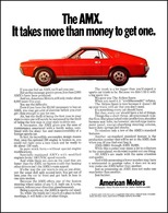 The AMX. It Takes More Than Money To Get One. | Print Ads